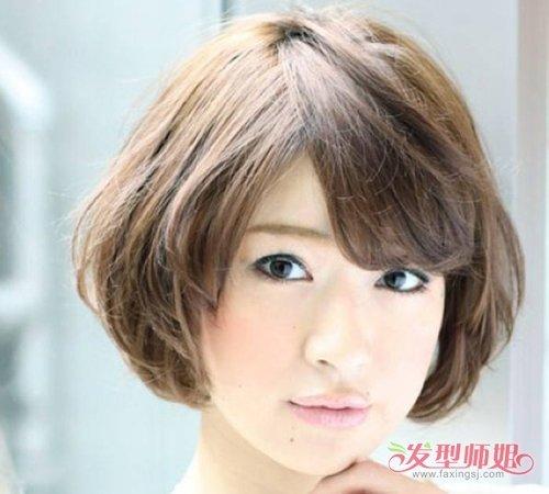 女生短发烫发波波头图片大全 短发波波头烫发图片