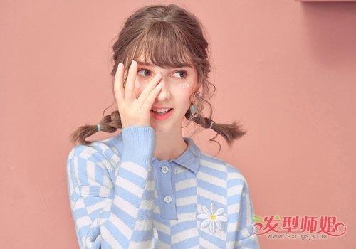年轻女生双麻花辫的六种演绎 传统编发结合流行元不要太好看