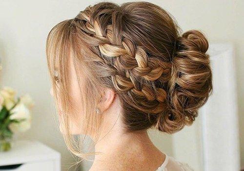 谁说简约新娘发型离不开丸子头 花苞头+编发就是欧式新娘发型终结者