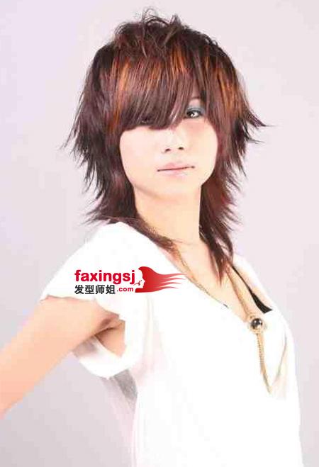 中性发型设计_方脸女生短发发型设计 中性时尚的短发造型图片_发型师姐