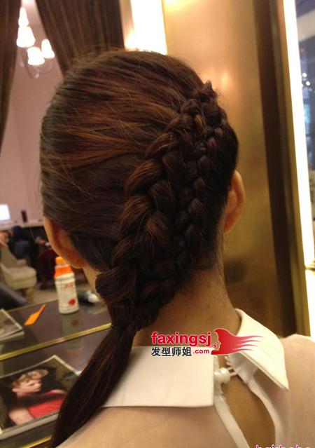 胖脸发型设计图片_女生宴会辫子发型设计 时尚与潮流融合的辫子发型图片(4)_发型师姐