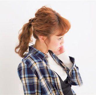 清新学院风扎发发型图 秋季发型女生扎发