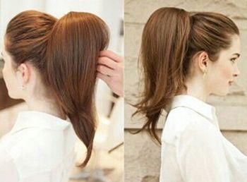 无刘海发型怎么打毛扎更气质 无刘海中分发型扎法