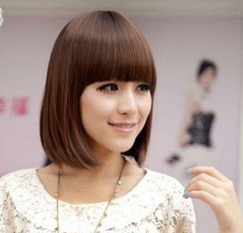 短发直发酷发型女 中短发直发发型图片