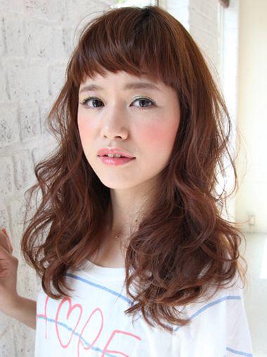 圆脸适合什么直刘海 直刘海女生图片