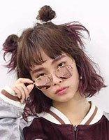 暑假来袭夏日与丸子头更配哦 00后美少女大爱的丸子头发型图片