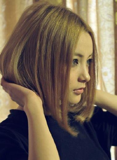 女生烫发波波头 烫染的波波头发型