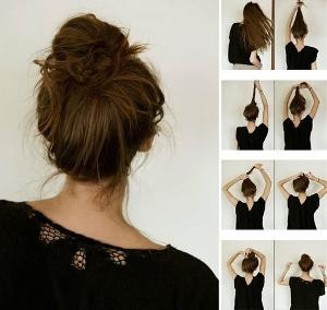 可爱小花苞头梳法 清新小花苞头扎发